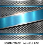background metallic silver with ... | Shutterstock .eps vector #630311120