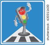 traffic light. red light.... | Shutterstock .eps vector #630311630