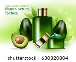 elegant face cream bottle ...   Shutterstock .eps vector #630320804