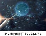 network in people hand | Shutterstock . vector #630322748