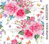watercolor natural summer... | Shutterstock . vector #630325094