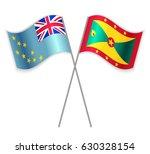 tuvaluan and grenadian crossed... | Shutterstock .eps vector #630328154