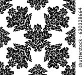 damask seamless pattern... | Shutterstock .eps vector #630328664