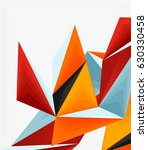 3d modern triangle low poly... | Shutterstock .eps vector #630330458