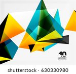 3d triangles geometric vector... | Shutterstock .eps vector #630330980