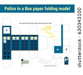 british police box as a paper... | Shutterstock .eps vector #630343100