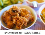 delicious crispy chicken broth | Shutterstock . vector #630343868
