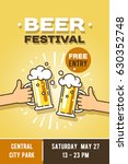 beer festival in the city ... | Shutterstock .eps vector #630352748