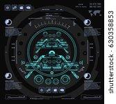 futuristic blue virtual graphic ... | Shutterstock .eps vector #630358853