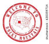"""rubber stamp """"welcome to rocky... 