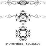 floral design elements | Shutterstock .eps vector #63036607