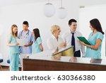 waiting room doctors office  ... | Shutterstock . vector #630366380