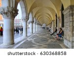 venice  italy   june 22  arcade ... | Shutterstock . vector #630368858