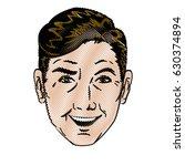 drawing face man pop art design   Shutterstock .eps vector #630374894