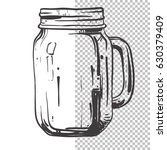 glass transparent vintage... | Shutterstock .eps vector #630379409