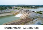 aerial view from drone   dam... | Shutterstock . vector #630389738