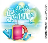 summer illustration with a... | Shutterstock .eps vector #630390854