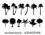 vector set of tropical palm and ... | Shutterstock .eps vector #630405398