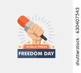 world press freedom day... | Shutterstock .eps vector #630407543