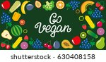 set of vegetables and fruits... | Shutterstock .eps vector #630408158