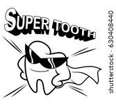 super tooth's line art | Shutterstock .eps vector #630408440