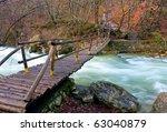 Wooden Bridge Over Mountain...