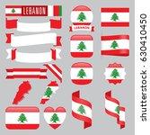 set of lebanon maps  flags ... | Shutterstock .eps vector #630410450