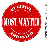 red label with text most wanted ... | Shutterstock .eps vector #630412010