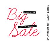big sale special offers with... | Shutterstock .eps vector #630412883
