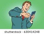 business handshake via... | Shutterstock .eps vector #630414248