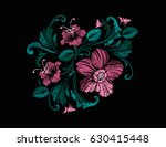 embroidery design in baroque... | Shutterstock .eps vector #630415448