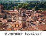 roofs and towers of lucca  italy | Shutterstock . vector #630417134