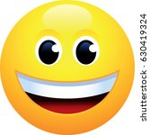 happy face emoji | Shutterstock .eps vector #630419324