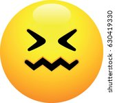 confounded face emoji | Shutterstock .eps vector #630419330