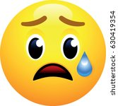 disappointed but relieved face... | Shutterstock .eps vector #630419354