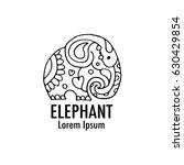 ornate elephant design | Shutterstock .eps vector #630429854