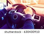 driving a car   steering wheel | Shutterstock . vector #630430910