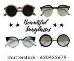 beautiful sunglasses ...   Shutterstock . vector #630433679