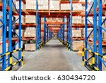 warehouse storage of retail... | Shutterstock . vector #630434720