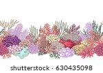 hand drawn underwater natural... | Shutterstock .eps vector #630435098
