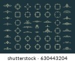 huge rosette wicker border... | Shutterstock . vector #630443204