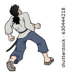 surprised samurai | Shutterstock .eps vector #630444218
