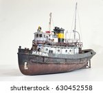 Scale Model Of Old Rusty Harbo...