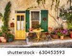 charming facade in beaumes de... | Shutterstock . vector #630453593