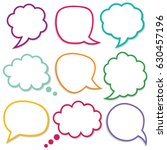 speech and thought bubbles ... | Shutterstock .eps vector #630457196