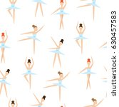 seamless pattern with ballet... | Shutterstock .eps vector #630457583