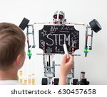 stem education. chalk on a... | Shutterstock . vector #630457658