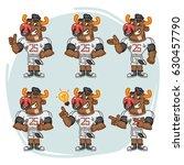 character set bull football... | Shutterstock .eps vector #630457790