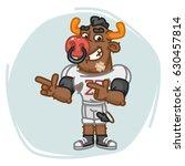 bull football player indicates... | Shutterstock .eps vector #630457814