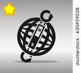 compass black con button logo... | Shutterstock .eps vector #630459038